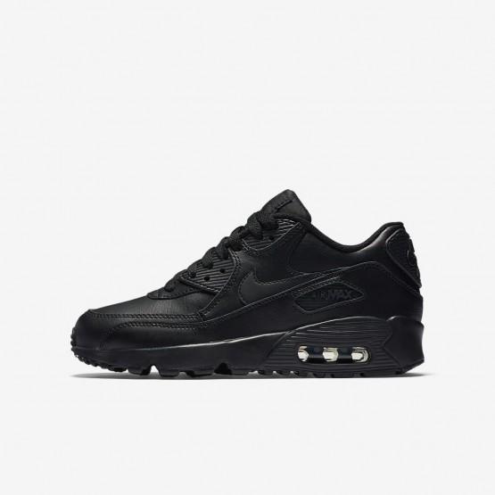Nike Air Max 90 Lifestyle Shoes Boys Black (798BDMEH)