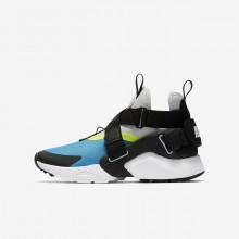 Nike Huarache Casual Schoenen Jongens LichtBlauw/Platina/Zwart (799WJKFC)
