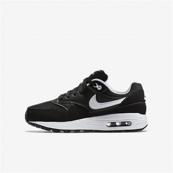 Nike Air Max 1 Lifestyle Shoes Boys Black/White (806HSKRO)