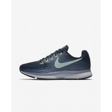 Nike Air Zoom Running Shoes Womens Armory Navy/Glacier Grey/Black/Mint Foam (811YLQKB)