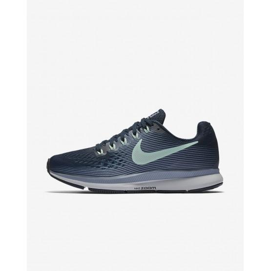Nike Air Zoom Running Shoes Womens Armory Navy/Glacier Grey/Black/Mint Foam (811YLQKB)