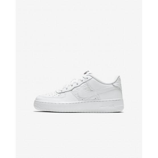 Nike Air Force 1 Lifestyle Shoes Boys Summit White/Black (814BOPCT)