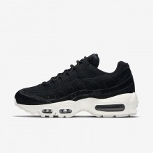 Nike Air Max 95 Lifestyle Shoes For Women Black/Dark Grey/Sail (814TVJQS)