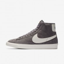 Nike Blazer Mid Lifestyle Shoes Womens Gunsmoke/Sail/Black (819XFJMI)