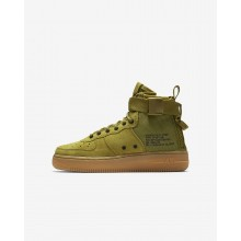 Nike SF Air Force 1 Lifestyle Shoes Boys Desert Moss/Gum Medium Brown/Black (824AZTVU)
