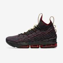 Nike LeBron 15 Basketball Shoes For Women Dark Atomic Teal/Team Red/Muted Bronze/Ale Brown (826JHTDZ)