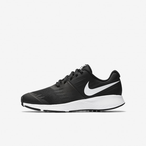 Nike Star Runner Running Shoes Girls Black/Volt/Anthracite/White (827IJWEH)