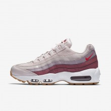 Nike Air Max 95 Lifestyle Shoes For Women Barely Rose/Vintage Wine/White/Hot Punch (830FJDTQ)