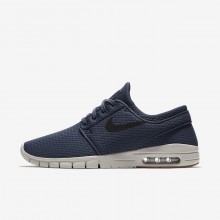 Nike SB Stefan Janoski Max Skateboarding Shoes For Men Thunder Blue/Gum Medium Brown/Light Bone/Black (839WHGZM)