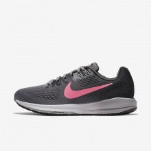 Nike Air Zoom Running Shoes Womens Gunsmoke/Anthracite/Atmosphere Grey/Sunset Pulse (840KTFEU)