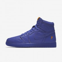 Air Jordan 1 Lifestyle Shoes Mens Rush Violet (842NOEWL)