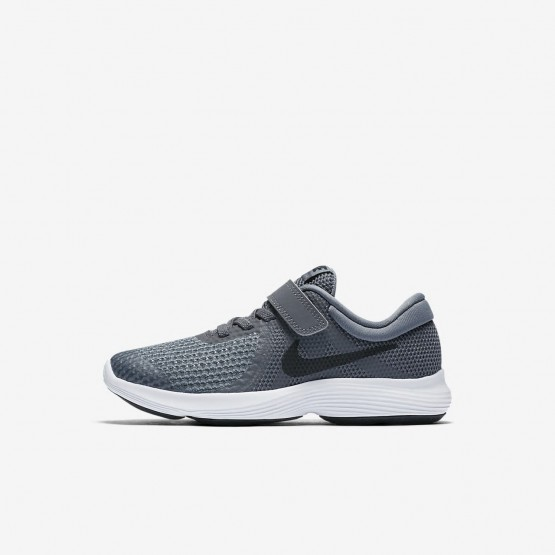 Nike Revolution 4 Hardloopschoenen Meisjes DonkerGrijs/Grijs/Wit/Zwart (842RXBKV)