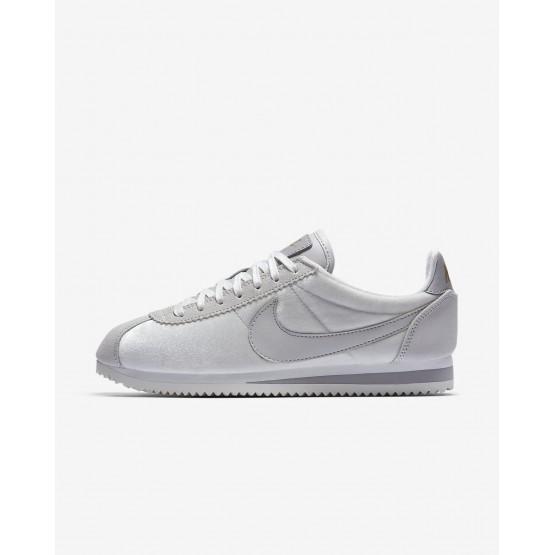 Nike Cortez Lifestyle Shoes Womens Vast Grey/Metallic Gold/Atmosphere Grey (847EGHFY)