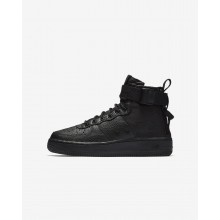 Nike SF Air Force 1 Lifestyle Shoes Boys Black (850RSJIL)