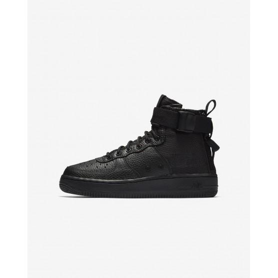Nike SF Air Force 1 Lifestyle Shoes Boys Black (850RSJIL)