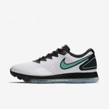 Nike Zoom All Out Running Shoes For Men White/Black/Clear Jade (855AWVUO)
