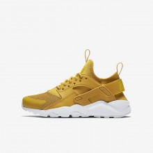Nike Air Huarache Lifestyle Shoes Boys Mineral Yellow/Pure Platinum/Vivid Sulfur (860YATGF)
