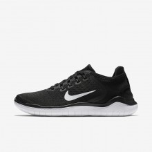 Nike Free RN Running Shoes Womens Black/White (861XLGAK)