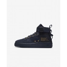 Nike SF Air Force 1 Lifestyle Shoes Boys Obsidian/Black (863HTQFO)