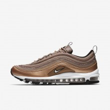 Nike Air Max 97 Lifestyle Shoes For Men Desert Dust/Metallic Red Bronze/Black/White (866SULYD)