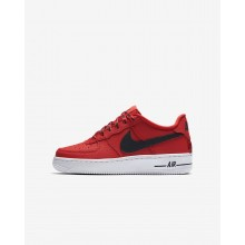 Nike Air Force 1 Lifestyle Shoes Boys University Red/White/Black (874SMYPD)