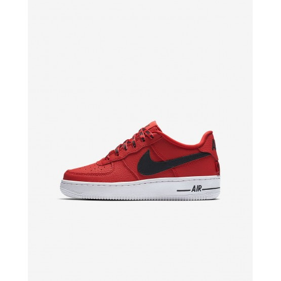 Chaussure Casual Nike Air Force 1 Garcon Rouge/Blanche/Noir (874SMYPD)