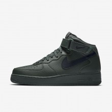 Nike Air Force 1 Lifestyle Shoes Mens Grove Green/Black (878MOPTV)