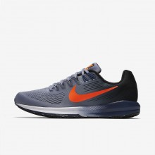 Nike Air Zoom Running Shoes For Men Dark Sky Blue/Black/Navy/Total Crimson (883ITNUV)