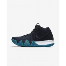 Nike Kyrie 4 Basketball Shoes For Men Dark Obsidian/Black (890IEGVL)