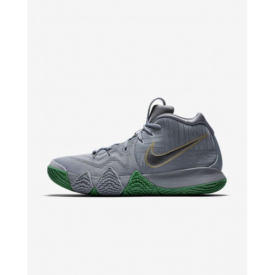 Nike Kyrie 4 Basketball Shoes For Men Flat Silver/Metallic Gold (891SHMIV)