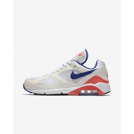 Nike Air Max 180 Lifestyle Shoes Mens White/Solar Red/Ultramarine (892VGENT)