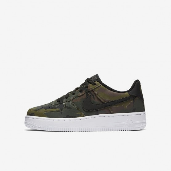 Nike Air Force 1 Lifestyle Shoes For Boys Medium Olive/Baroque Brown/Sequoia/Black (894JEIFY)