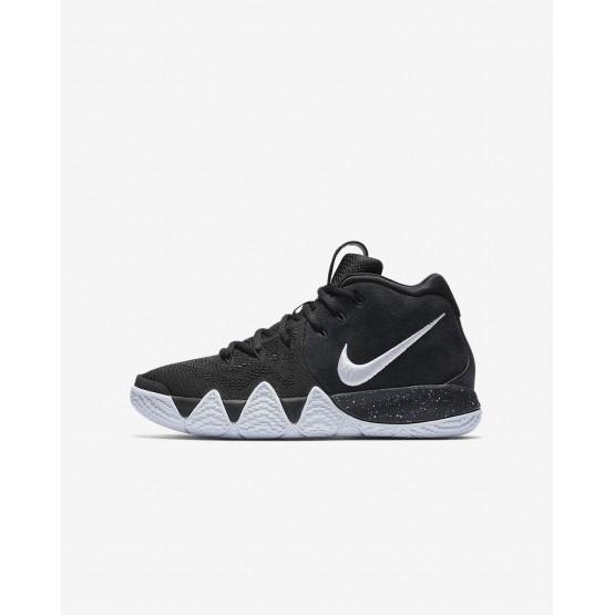 Nike Kyrie 4 Basketball Shoes For Boys Black/Anthracite/Light Racer Blue/White (904GBZSK)