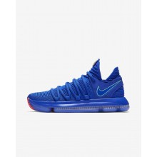 Nike Zoom KDX Basketball Shoes Womens Racer Blue/Black/Total Crimson/Light Menta (938CBZHI)