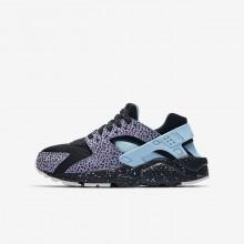 Nike Huarache Lifestyle Shoes Boys Black/Purple Pulse/Summit White/Lagoon Pulse (943NSDOI)