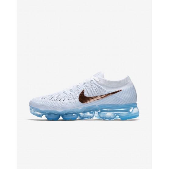Nike Air VaporMax Running Shoes Womens Summit White/Hydrogen Blue/Pure Platinum/Metallic Red Bronze (945SVQIZ)