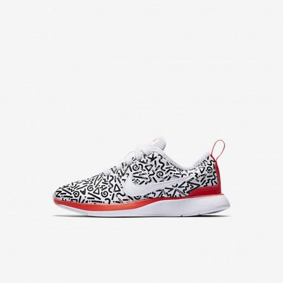 Chaussure Casual Nike Dualtone Racer Garcon Blanche/Noir (947USNRG)