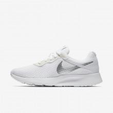 Nike Tanjun Lifestyle Shoes Womens White/Metallic Silver (957PXMSQ)