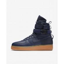 Nike SF Air Force 1 Lifestyle Shoes Mens Midnight Navy/Black/Gum Medium Brown (961XENQZ)