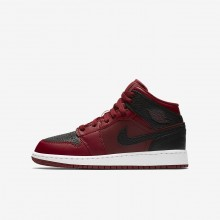 Air Jordan 1 Lifestyle Shoes Boys Team Red/Summit White/Gym Red (969CJOLR)