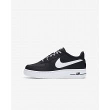 Nike Air Force 1 Lifestyle Shoes For Boys Black/White (970TUJNE)