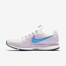 Nike Air Zoom Running Shoes Womens Summit White/Elemental Rose/Thunder Blue/Equator Blue (971GEQFK)