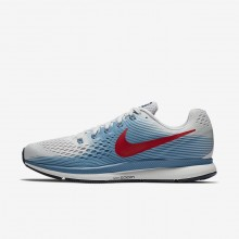 Nike Air Zoom Running Shoes For Men Vast Grey/Aegean Storm/Thunder Blue/University Red (971HOWUF)