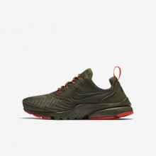 Nike Presto Fly Lifestyle Shoes For Boys Medium Olive/Total Crimson/Sequoia (973EFYRC)
