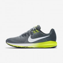 Nike Air Zoom Running Shoes For Men Cool Grey/Anthracite/Volt/White (974TUQHO)