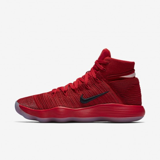 Nike React Hyperdunk 2017 Basketball Shoes Womens University Red/Reflect Silver (977KHRAU)