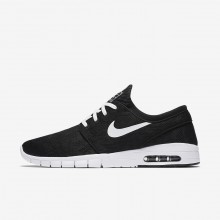 Nike SB Stefan Janoski Max Skateboarding Shoes For Men Black/White (979BLVDW)