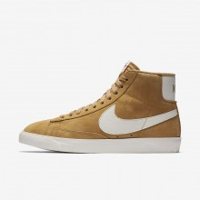 Nike Blazer Mid Lifestyle Shoes For Women Elemental Gold/Sail/Black (984GHRBJ)