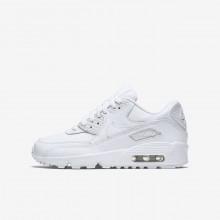 Nike Air Max 90 Lifestyle Shoes Boys White (988ULEDG)