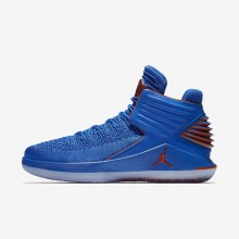 Air Jordan XXXII Basketball Shoes For Men Photo Blue/Metallic Silver/Team Orange (992TAIOE)